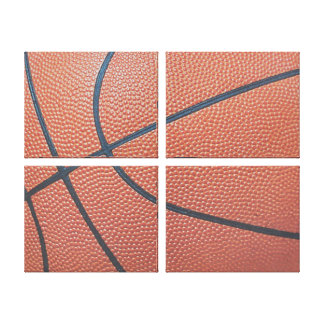 Team Spirit_Basketball texture_Hoops Lover Gallery Wrapped Canvas