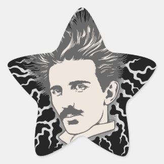 Team Tesla Static Hair Star Sticker
