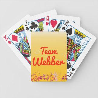 Team Webber Bicycle Poker Cards