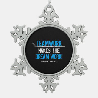 TEAMWORK PEWTER SNOWFLAKE DECORATION