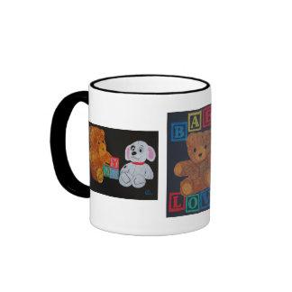 Teddy Bear and Dog Ringer Mug