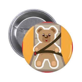 Teddy Bear buckle Up 6 Cm Round Badge