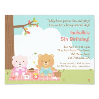 Teddy Bear Picnic Kids Birthday Party Invitations