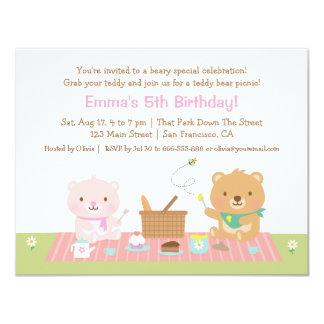 Teddy Bear Picnic Tea Party Birthday Invitations