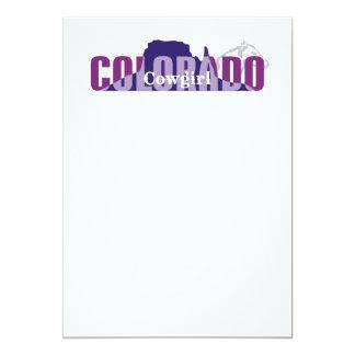 TEE Colorado Cowgirl 13 Cm X 18 Cm Invitation Card