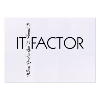 TEE It Factor Pack Of Chubby Business Cards