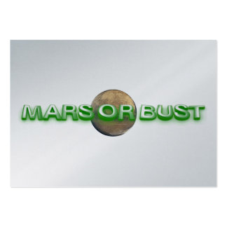 TEE Mars Or Bust Pack Of Chubby Business Cards