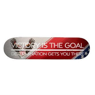TEE Political Victory Slogan 21.6 Cm Old School Skateboard Deck