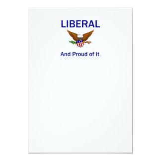 TEE Proud Liberal 13 Cm X 18 Cm Invitation Card