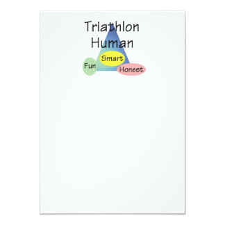 TEE Triathlon Human 13 Cm X 18 Cm Invitation Card