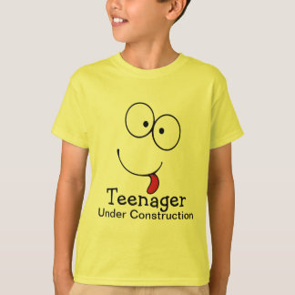 Teenager Under Construction Funny Face Tees
