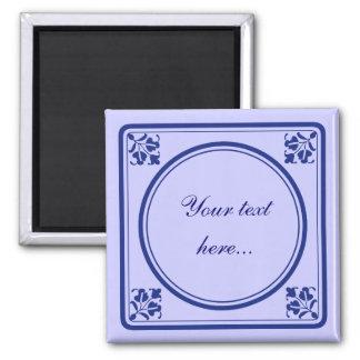 Tegeltje, little Dutch tile Square Magnet