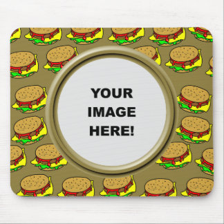 Template, Burger Border Mouse Pad