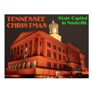 Tennessee Christmas State Capitol in Nashville Postcard