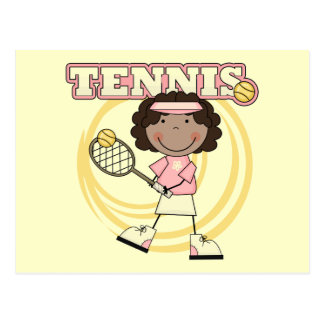TENNIS - African American Girl T shirts and Gifts Postcard