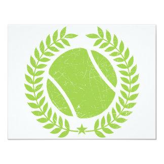 Tennis Ball and tennis Team Vintage design 11 Cm X 14 Cm Invitation Card