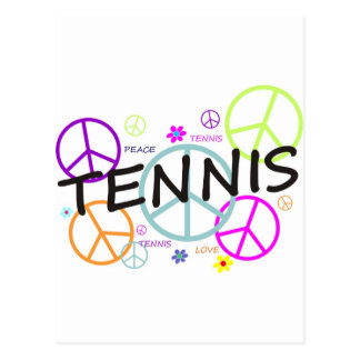 Tennis Colored Peace Signs Postcard