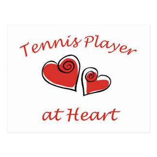 Tennis Player at Heart Postcard