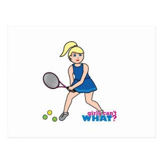 Tennis Player Girl - Light/Blonde Postcard