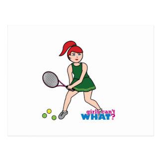 Tennis Player Girl - Light/Red Postcard