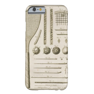 Tennis Racquets and Billiard Cues, from the 'Encyc Barely There iPhone 6 Case