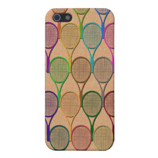 TENNIS RACQUETS IN COLOR 4  iPhone 5 CASE