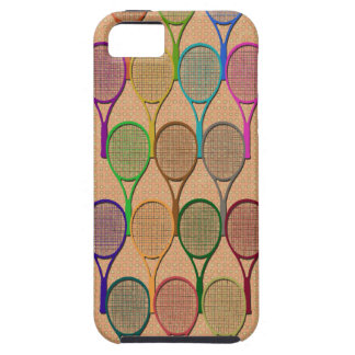 TENNIS RACQUETS IN COLOR iPhone 5 Case-Mate Case