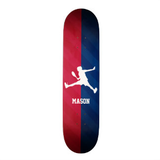 Tennis; Red, White, and Blue Skateboards