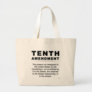 Tenth Amendment Jumbo Tote Bag