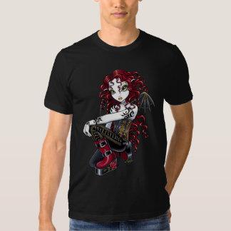 """Terri"" Gothic Red Rose Tattoo Fairy Art Top T Shirt"