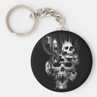 Terror of Halloween - Basic Round Button Key Ring
