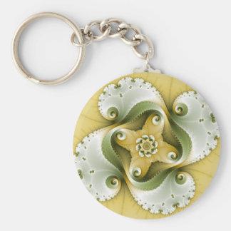 Terror Power - Fractal Art Basic Round Button Key Ring