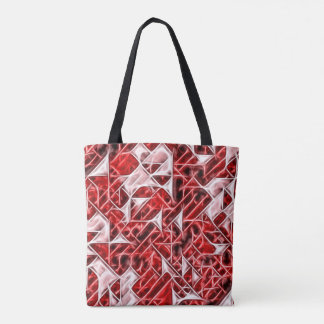 Tetris Nostalgy energetic triangle pattern tote Tote Bag