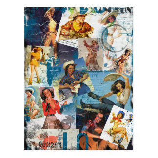 """Texas Eclectic """" Cowgirl Collection No. 2 Postcard"""