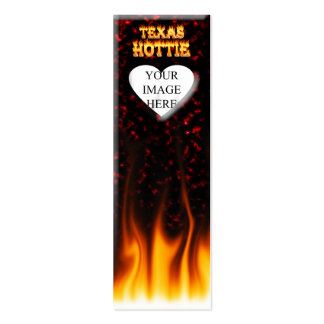 Texas Hottie fire and red marble heart. Pack Of Skinny Business Cards