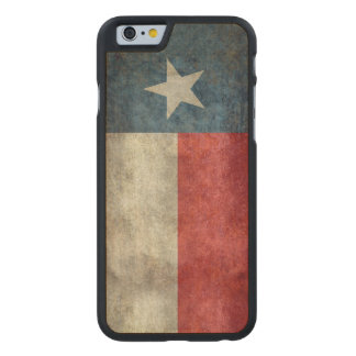 Texas state flag vintage retro iphone wood case