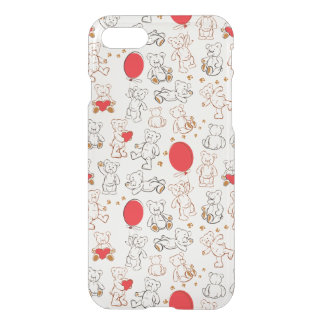 Texture With Teddy Bears iPhone 7 Case