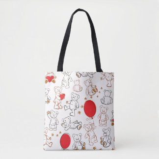 Texture With Teddy Bears Tote Bag