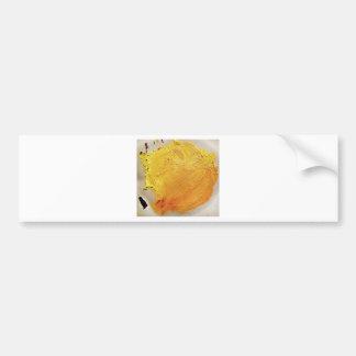 Texture yellow paint stain bumper sticker