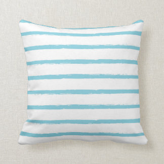 Textured Stripes Lines Sky Blue Nautical Modern Cushions