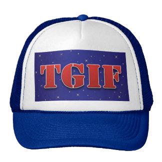 TGIF Thank God It's Friday Sparkle Trucker Hat