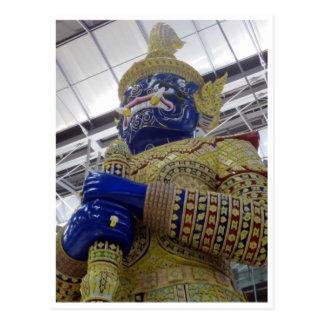 thai gold statue postcard