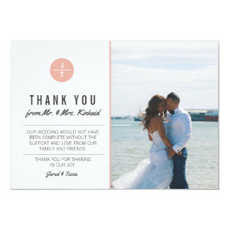 THANK YOU Cards \ WEDDINGS 13 Cm X 18 Cm Invitation Card