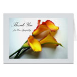 Thank You for Sympathy, Calla Lilies Greeting Card
