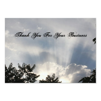 Thank you for your business 13 cm x 18 cm invitation card