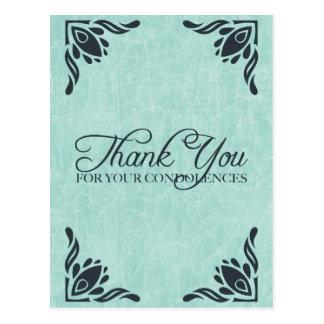 thank you for your condolences postcard