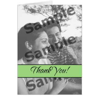 Thank You - Green Greeting Card