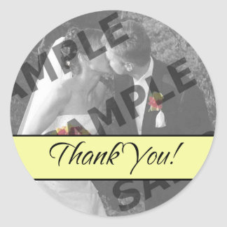 Thank You - Pale Yellow Round Sticker