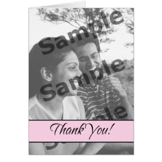 Thank You - Pink Greeting Card
