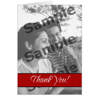Thank You - Red Greeting Card